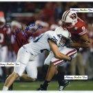 DREW ASTORINO Penn State Nittany Lions sticks Travis Beckum of Wisconsin - 8x10 AUTO Autograph