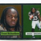 TRENT RICHARDSON 2012 Topps Chrome 1957 Throwback ROOKIE INSERT Browns ALABAMA Crimson Tide