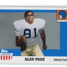 ALAN PAGE 2005 Topps All-American Retired Edition #4 NOTRE DAME Irish VIKINGS