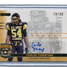 CARLOS THOMPSON 2010 Razor Army All-American AUTO Ole Miss Rebels low #d/20