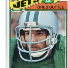 GREG BUTTLE 1977 Topps #186 ROOKIE New York NY Jets PENN STATE
