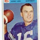 MILT PLUM 1966 Philadelphia #72 Detroit Lions PENN STATE QB