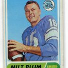 MILT PLUM 1968 Topps #104 Rams PENN STATE QB