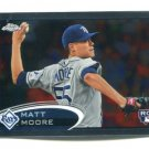 MATT MOORE 2012 Topps Chrome #160 ROOKIE Rays