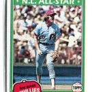 MIKE SCHMIDT 1981 Topps #540 Philadelphia Phillies B