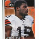 GREG LITTLE 2012 Panini Sticker #96 Browns NORTH CAROLINA Tarheels