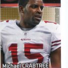 MICHAEL CRABTREE 2012 Panini Sticker #420 49ers TEXAS TECH Red Raiders