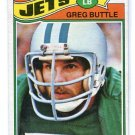GREG BUTTLE 1977 Topps #186 ROOKIE Penn State Nittany Lions JETS Damaged