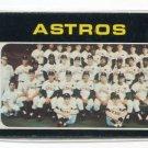 ASTROS 1971 Topps HI High Number Series SP #722 Team Card BV $20