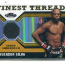 ANDERSON SILVA 2011 Topps Finest Threads #R-AS REFRACTOR Authentic Fighter-Worn Gear UFC MMA #d/88