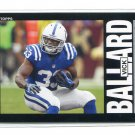 VICK BALLARD 2013 Topps Heritage #59 ROOKIE Colts MISSISSIPPI STATE Bulldogs