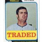 LOU PINELLA 1974 Topps Traded #390T New York NY Yankees