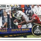 TORREY SMITH 2013 Score Road to the Super Bowl #255 Ravens MARYLAND Terps