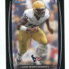SAM MONTGOMERY 2013 Bowman BLACK SP #186 ROOKIE Texans LSU Tigers Quantity QTY