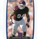 DAMONTRE MOORE 2013 Bowman #174 ROOKIE NY Giants TEXAS A&M Aggies Quantity QTY