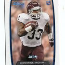 CHRISTINE MICHAEL 2013 Bowman #138 ROOKIE Seahawks TEXAS A&M Aggies