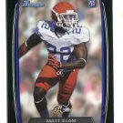 MATT ELAM 2013 Bowman BLACK SP #145 ROOKIE Ravens FLORIDA Gators