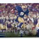 TONY RICE 2013 Upper Deck UD Collectible #52 Notre Dame Irish QB