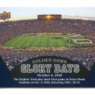 GOLDEN DOME GLORY DAYS 2013 Upper Deck UD Collectible #97 Notre Dame Irish - October 4, 1930
