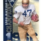 NICK EDDY 2013 Upper Deck UD Collectible #NC-NE INSERT Notre Dame Irish RB