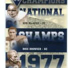 KEN MacAFEE / ROSS BROWNER / LUTHER BRADLEY  2013 Upper Deck UD Collectible INSERT Notre Dame Irish