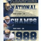 TODD LYGHT / TONY RICE / RICKY WATTERS 2013 Upper Deck UD Collectible INSERT Notre Dame Irish