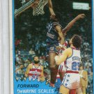 DeWAYNE SCALES 1981-82 Topps #85 LSU Tigers New York NY Knicks
