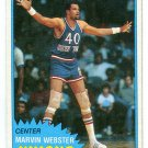 MARVIN WEBSTER 1981-82 Topps #87 New York NY Knicks