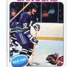 DENNIS VERVERGAERT 1975 Topps #42 Vancouver Canucks CANADA