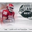 ADRIAN PETERSON 2011 UD College Football Legends Decades Best INSERT Vikings OKLAHOMA Sooners