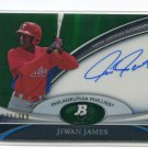 JIWAN JAMES 2011 Bowman Sterling AUTO GREEN REFRACTOR Autograph ROOKIE Philadelphia Phillies #d/399