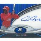 JIWAN JAMES 2011 Bowman Sterling AUTO BLUE REFRACTOR Autograph ROOKIE Philadelphia Phillies #d/99