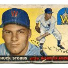 CHUCK STOBBS 1955 Topps #41 Washington Nationals BV $15