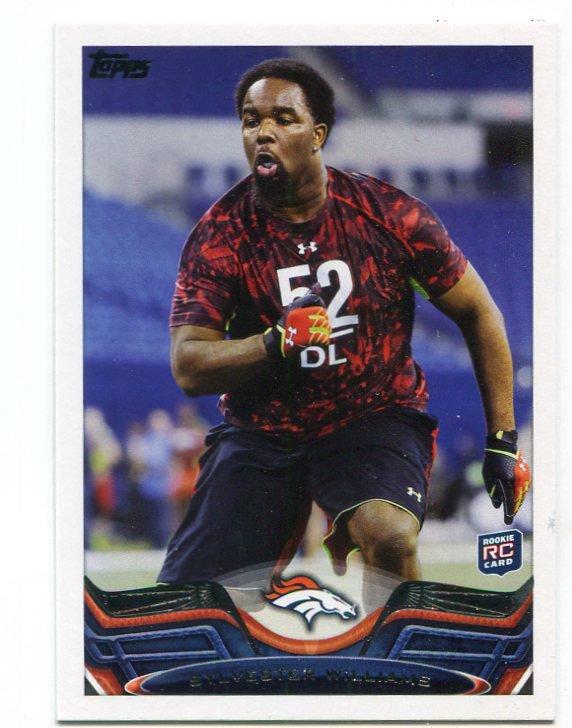 SYLVESTER WILLIAMS 2013 Topps #83 ROOKIE Broncos NORTH CAROLINA UNC Tar Heels