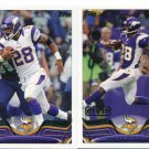 (2) ADRIAN PETERSON 2013 Topps All-Pro #1 & MVP #117 Vikings OKLAHOMA Sooners