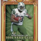SHONN GREENE 2013 Topps 1000 Yard Club INSERT New York NY Jets IOWA Hawkeyes