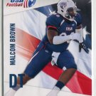 MALCOM BROWN 2012 Upper Deck UD USA Football #34 ROOKIE Texas Longhorns PATRIOTS DT