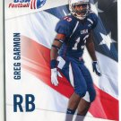 GREG GARMON 2012 Upper Deck UD USA Football #20 Iowa Hawkeyes RB