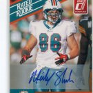 MICKEY SHULER Jr. 2010 Panini Donruss Rated Rookie AUTO #72 Miami Dolphins