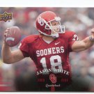 JASON WHITE 2011 UD College Football Legends #66 Oklahoma Sooners RAMS 2003 Heisman Winner QB