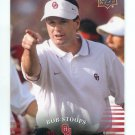 Coach BOB STOOPS 2011 UD College Football Legends #79 Oklahoma Sooners