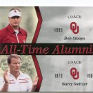 Coach BOB STOOPS / BARRY SWITZER 2011 UD College Football Legends All-Time Alumni INSERT Sooners