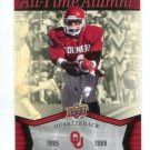 JAMELLE HOLIEWAY 2011 UD College Football Legends All-Time Alumni INSERT Oklahoma Sooners QB