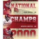 JOSH HEUPEL / QUENTIN GRIFFIN / ROCKY CALMUS 2011 UD College Football Legends NC INSERT Sooners QB