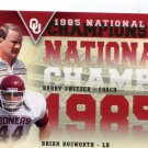 Coach BARRY SWITZER / BRIAN BOSWORTH 2011 UD College Football Legends NC INSERT Oklahoma Sooners