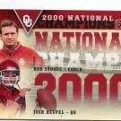 Coach BOB STOPPS / JOSH HEUPEL 2011 UD College Football Legends NC INSERT Oklahoma Sooners
