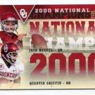 JOSH HEUPEL / QUENTIN GRIFFIN 2011 UD College Football Legends NC INSERT Oklahoma Sooners