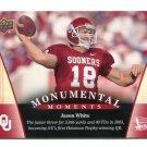 JASON WHITE 2011 UD College Football Legends Monumental Moments #92 Oklahoma Sooners QB