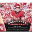 SAM BRADFORD 2011 UD College Football Legends Monumental Moments #95 Oklahoma Sooners RAMS QB