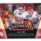 ADRIAN PETERSON 2011 UD College Football Legends Monumental Moments #94 Oklahoma Sooners VIKINGS